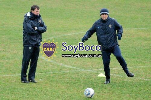 JCF y Román hoy en Casa Amarilla...