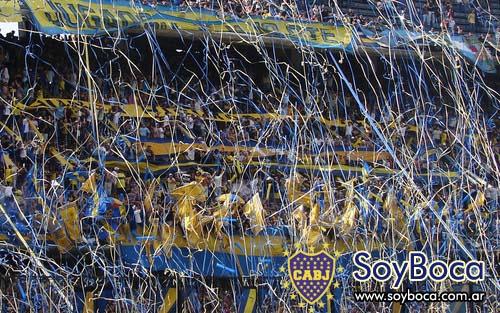 La hinchada de Boca Juniors fiel