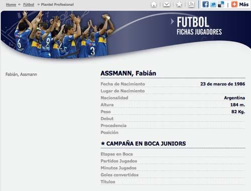 Imagen obtenida del sitio oficial de Boca Juniors