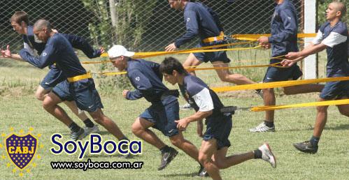 Trabajo físico muy intento para los jugadores de Boca Juniors