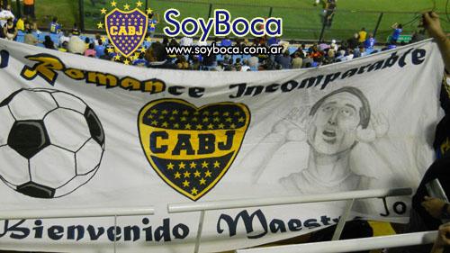 Bandera en apoyo a Juan Roman Riquelme