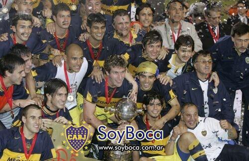 Festejos de Boca Juniors en la Libertadores del 2007